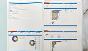 プロセスマイニングツールの分析結果が記載されたレポート
