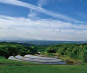 住まいのある熊本県の風景